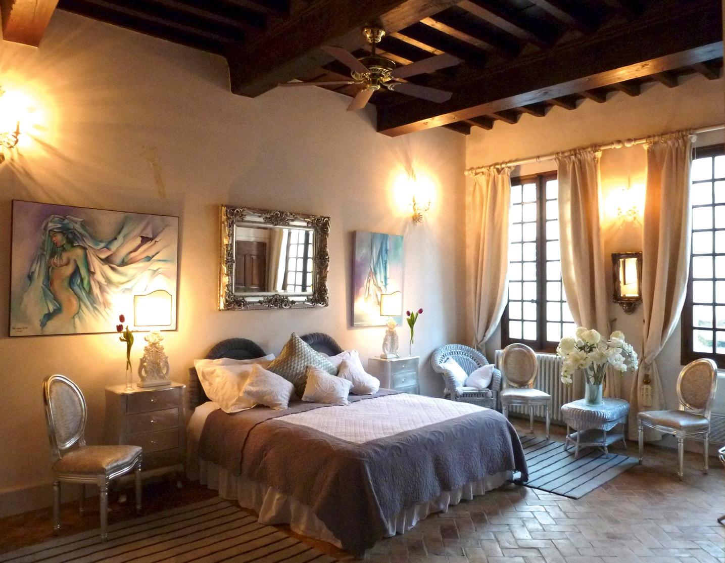les saisons bed and breakfast villeneuve les avignon provence winter room chambre l 39 hiver. Black Bedroom Furniture Sets. Home Design Ideas